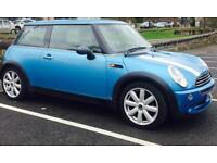 2005 (MAY 05) MINI 1.6 ONE LONG MOT- 3 DOORS - PETROL- LOW MILES - PART SERVICE HISTORY - SKY BLUE