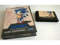 SEGA MEGA DRIVE 'SONIC' GAME- USED - IN CASE - NO INSTRUCTION MANUAL