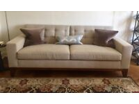Bespoke Kingcome Sofa - PRICE REDUCED neutral color, hardly used