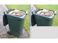 360L (Extra Large Wheelie Bin) litres of Seasoned Firewood logs FREE IPSWICH DELIVERY
