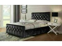 🔵💖🔴GREAT OFFER 🔵💖🔴CHESTERFIELD BED IN DOUBLE/KING SIZE FRAME WITH OPTIONAL MATTRESS-
