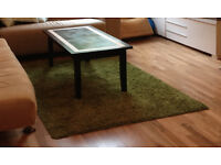 Green IKEA Hampen rug