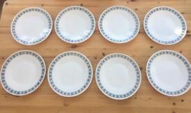Vintage Pyrex dinner plates x8 Chelsea Pattern