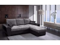 BRAND NEW GIANI SOFA BED, AVAILABLE IN LEATHER OR CORD FABRIC**VARIOUS COLOURS AVAILABLE
