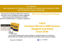 Yale Wireless Premium GSM Burglar Alarm supplied and Fitted. House Alarm