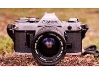 Canon ae1 and 35-70f4 lens classic 35mm camera