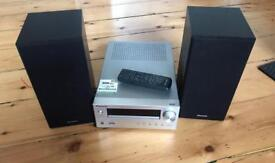 Pioneer cd usb receiver dab hifi with speakers