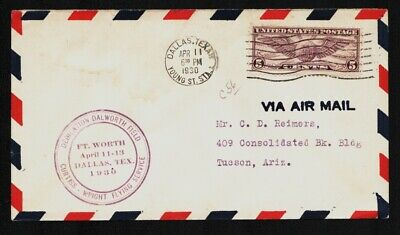 1930 Dallas Dalworth Airport Airport Dedication Flight Cover AAMC #C56  A293