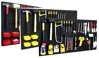 Pro 75 Peg Hook Kit Bins - Pegboard Assortment Tool Board Organizer Hardware