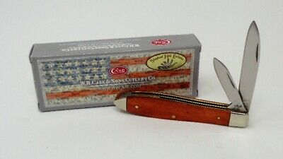 CASE XX Knife, Tony Bose Designed, RARE 2 Blade, Chestnut TEAR DROP with box