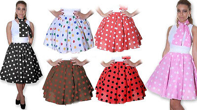 Ladies Girls Polka Dot Rock N Roll Poodle Skirt 1950's/1960's Style Grease Jive ](Polka Dot Poodle Skirt)
