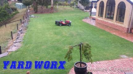 YARD WORX- Ride on Lawn Mowing