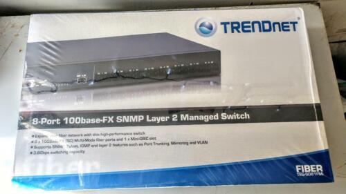 Trendnet 8-Port 100base-FX Layer 2 Managed Fiber Switch TEG-S081FMi NEW SEALED!