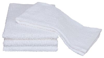 24 new cotton white ribbed terry restaurant bar mops premium kitchen towels -