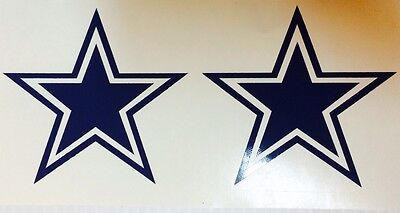 Dallas Cowboys Star   2 Pack Decal  Free Shipping