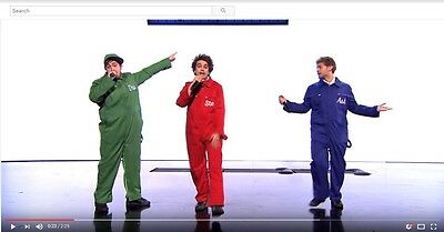 OVERALLS Boiler Suit STAGE COSTUME STRIPAGRAM style rip- strip with velcro-BLUE (Costume With Overalls)