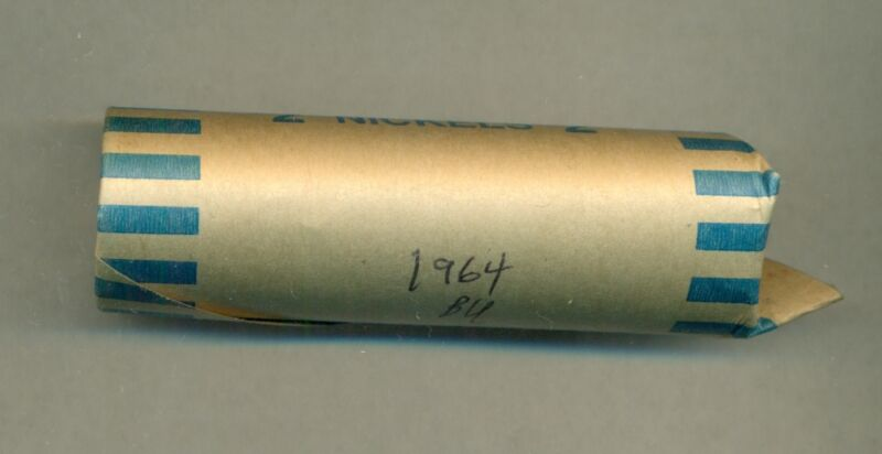A VERY NICE BU ROLL (40 COINS) OF 1964 CANADA FIVE CENTS, GREAT PRICE!