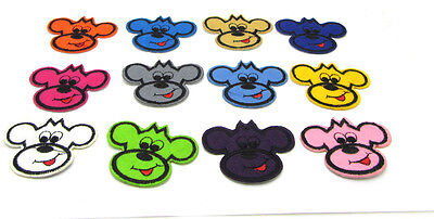 New 12PCS Cute Dog Embroidered  Iron On Patch Sew Motif Applique Clothes