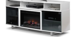 Fireplace TV Stand -white