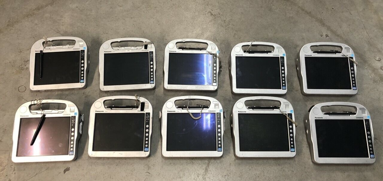LOT OF 10 PANASONIC CF-H2 i5-2557M 1.7GHZ 4GB TOUGHBOOK TABLETS NO HDDs