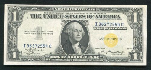 """FR. 2306 1935-A $1 ONE DOLLAR """"NORTH AFRICA"""" SILVER CERTIFICATE EXTREMELY FINE+"""