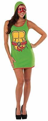 LICENSED TEENAGE MUTANT NINJA TURTLES RAPHAEL HOODED DRESS ADULT COSTUME SMALL  - Ninja Turtles Raphael Halloween Costume