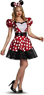 Disguise Women's Disney Minnie Mouse Glam Costume Red/White/Black, Sz L 12-14