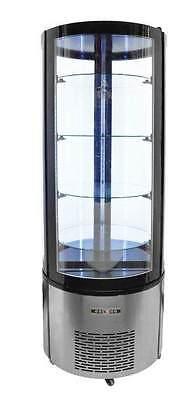 Omcan Rs-cn-0400-r 14cf 26 Circular Refrigerated Floor Cake Display Case New