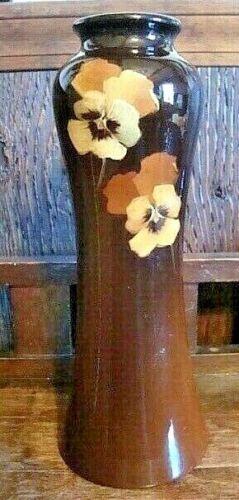McCoy Pottery Loy Nel Art Pansy Vase-1905