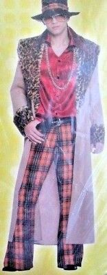 Big Daddy Halloween Costume (Big Daddy Pimp / Disco Hustler  Halloween Adult Costume Mens XL)