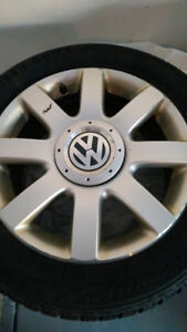 Almost Brand new Winter tires on Alloy RIMS - VOLKSWAGEN