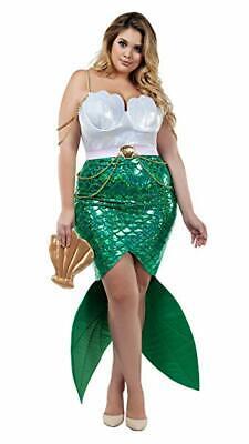 Starline Verführerisch See Sirene Meerjungfrau Erwachsene Übergröße - Sirene Kostüm Halloween