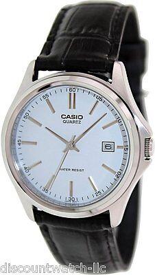 Casio Mens MTP1183E-7A Genuine Leather Casual Classic Dress Watch White Dial NEW Casio Casual Mens Sport Watch