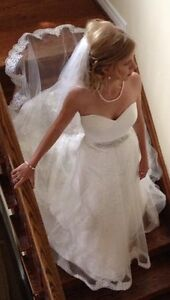 Beautiful Wedding Gown (Ivory) & Veil for Sale!