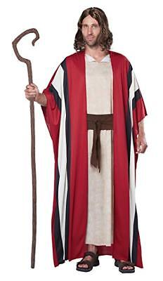 Biblical Shepherd Costume Adult 3Pc Tan/Rd/Br Gown Stripe Robe & Sash Lg/Xl (Shepherd Adult Kostüm)