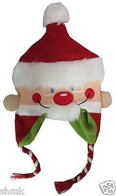 ABG Accessories Adult Unisex Ugly Sweater Santa Claus Face Christmas Hat - Ugly Christmas Sweater Accessories