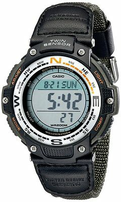 Casio SGW100B-3V Mens Twin Sensor Digital Compass Multi-Task Gear Sports Watch
