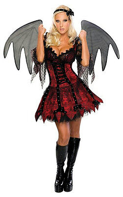 Adult Size Fairy Wings (Secret Wishes Sexy Vampire Fairy Adult Costume with Wings Size XS)