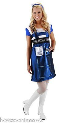 Doctor Who TARDIS Dress Halloween Party Costume Girl Woman S/M New In Pkg.