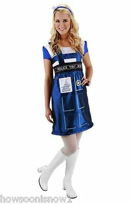 Tardis Halloween Costume (Doctor Who TARDIS Dress Halloween Party Costume Adult Women L/XL New In)