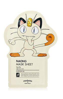 Tony Moly  Pokemon Naong Ver  Facial Masks Sheet Pack Korean Skin Care 1 Each
