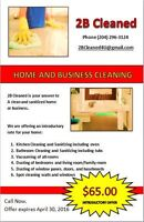 2B Cleaned home cleaning services