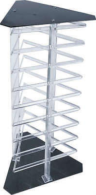 Earring Display Triangular Stand Rotating Holds 108 Cards Revolving Counter Top