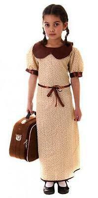 EVACUEE GIRLS CHILDRENS OUTFIT FANCY DRESS COSTUME AGES - Evacuee Fancy Dress Kostüme