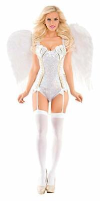 Party King Sweet Angel Bodysuit Deluxe Sexy Adult Womens Halloween Costume PK441