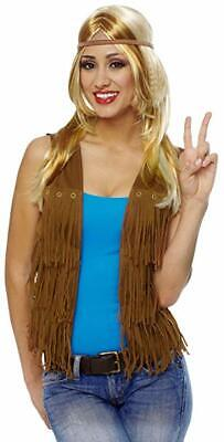 Costume Culture Hippie Fringe Vest 60s Adult Halloween Costume Accessory 32088 - 60s Hippie Costume