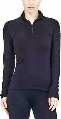 Icebreaker Oasis 200 Long Sleeve Half Zip Women's Top - Small S - Cognac RRP £85