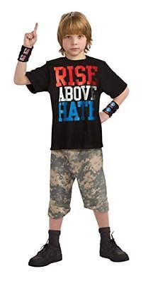 WWE JOHN CENA RISE ABOVE HATE Child Halloween Costume Wrestling (Sz Large 12-14)](Halloween John Cena Costume)
