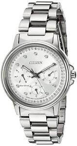 NEW Citizen Women's FD2040-57A Eco-Drive Swarovski Watch
