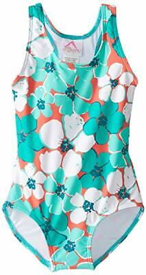 NWT KANU SURF BIG GIRLS TAYLOR FLORAL ONE PIECE SWIMSUIT SIZE 12